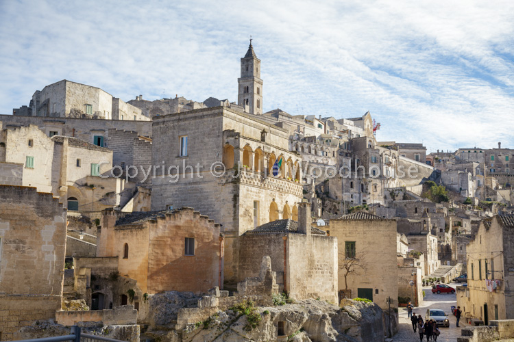 photo showing From Via Fiorentini Looking Up Towards The Cathedral, Matera, Basilicata, Italy