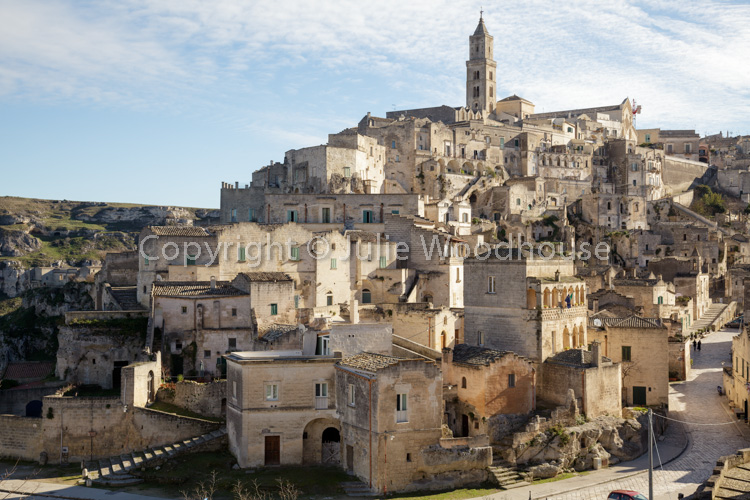 photo showing View Over Town From Convent Of Saint Agostino, Matera, Basilicata, Italy