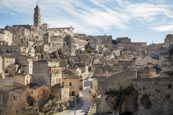 View Over Town From Convent Of Saint Agostino, Matera, Basilicata, Italy