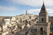 Thumbnail image of view over town from Convent of Saint Agostino with Bell tower of the St. Pietro Barisano Church, Mat
