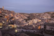 Thumbnail image of view over the town from viewpoint at Piazzetta Pascoli, Matera, Basilicata, Italy