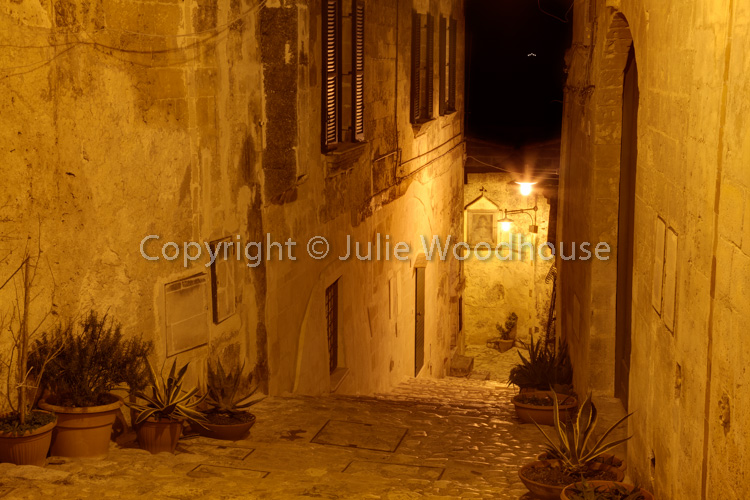 photo showing Via San Potito Street In The Old Town, Matera, Basilicata, Italy