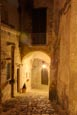 Via San Giacomo Street In The Old Town, Matera, Basilicata, Italy
