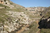 Thumbnail image of Torrente Gravina with rope bridge across river, Matera, Basilicata, Italy