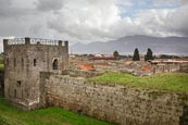 View Over The City With Guard Tower, Pompeii, Campania, Italy