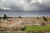 View Over The City With The Old City Walls, Pompeii, Campania, Italy