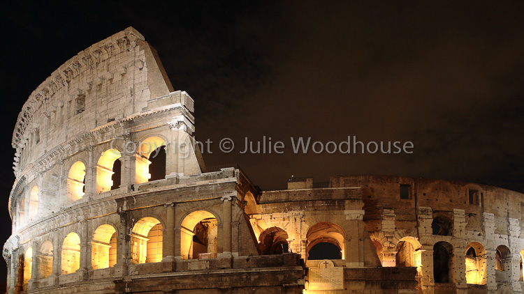 photo showing The Colosseum, Rome, Italy