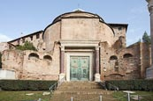 The Roman Forum, Temple Of Romulus, Rome, Italy