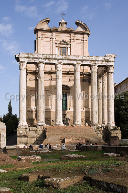 photo showing The Roman Forum, Temple Of Antonius And Faustina, Rome, Italy