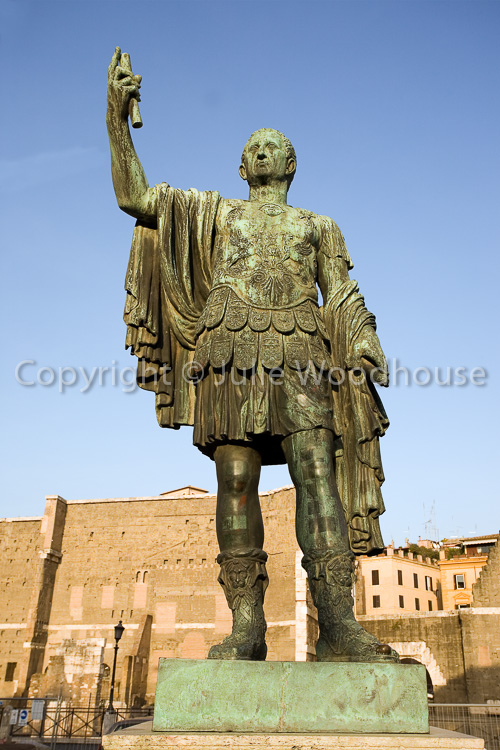 photo showing Caeser Statue On Via Allessandrina, Rome, Italy
