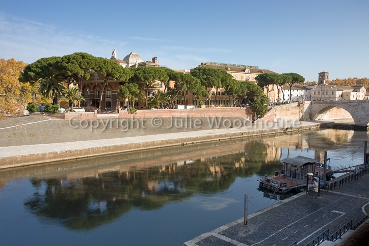 photo showing Isola Tiberina And River Tiber, Rome, Italy