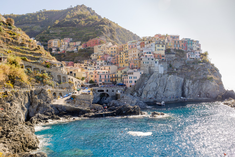photo showing View Over The Town With Its Colourful Houses In Manarola, Cinque Terre, Liguria, Italy