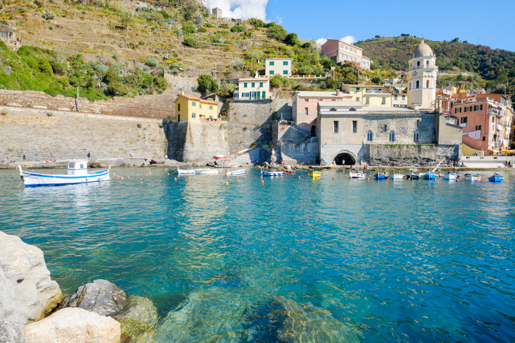 photo showing Harbour In Vernazza, Cinque Terre, Liguria, Italy