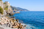 Castle of Monterosso With The Cinque Terre Coast, Liguria, Italy