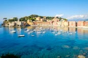 The Bay Of Silence And View Over The Old Town Of Sestri Levante On The Italian Riviera, Liguria, Ita