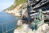 Bronze Statue Called Mother Earth By Scorzelli At Porto Venere, Liguria, Italy