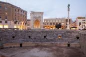 Thumbnail image of Roman Amphitheatre with the Sedile and Sant Oronzo Column, Lecce, Puglia, Italy