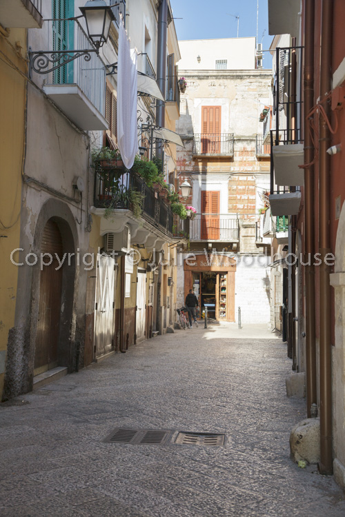 photo showing Typical Street In The Old Town, Bari, Puglia, Italy