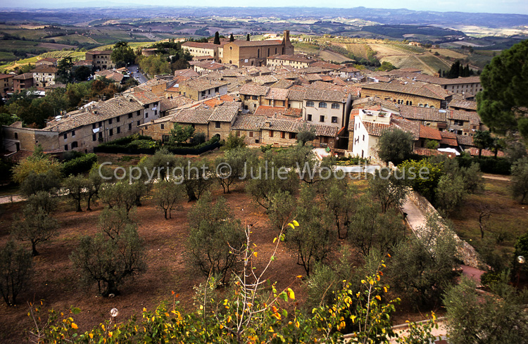 photo showing View Over San Gimignano