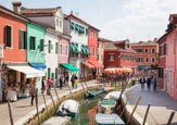Thumbnail image of Fondamenta San Mauro with the coloured houses of Burano, Veneto, Italy
