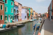 Thumbnail image of Fondamenta di Cavanella with the coloured houses of Burano, Veneto, Italy