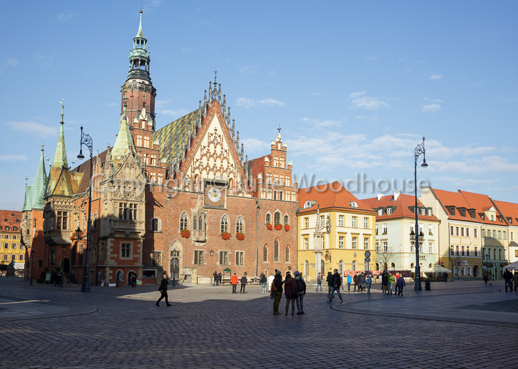 photo showing Market Square With Old Town Hall - Rynek We Wrocławiu, Wroclaw, Poland