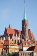 Thumbnail image of Cathedral Island Ostrow Tumski with The Church of the Holy Cross, St. Bartholomews, Wroclaw, Poland