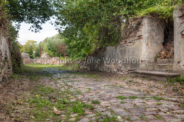 photo showing Derelict Street In The Old Town Of Kostrzyn, Poland