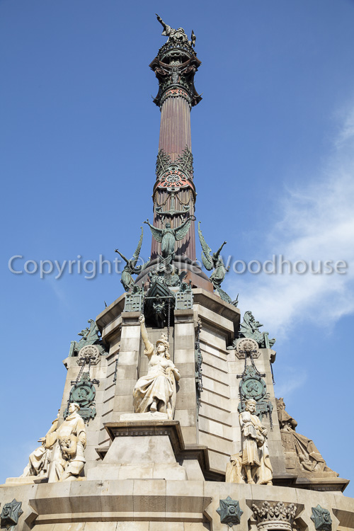 photo showing Mirador De Colom, Columbus Monument, Barcelona, Catalonia, Spain