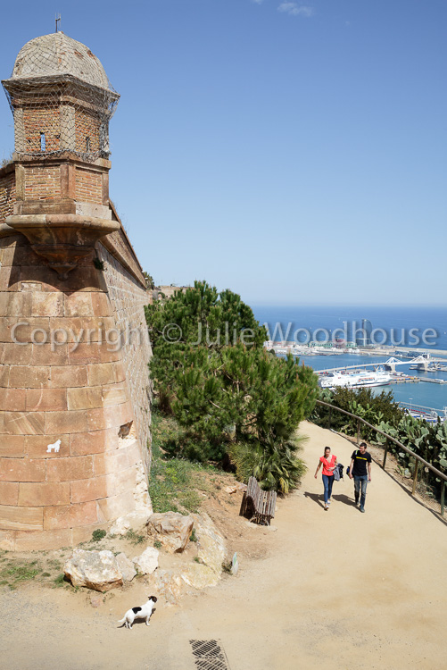 photo showing View From Castell De Montjuic Over The Ports, Barcelona, Catalonia, Spain