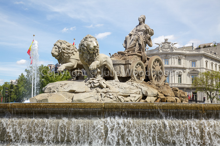 photo showing Cibeles Fountain In Cibeles Square, Madrid, Spain