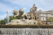 Cibeles Fountain In Cibeles Square, Madrid, Spain
