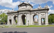 Alcala Gate / Puerta De Alcalá On Plaza De La Independencia, Madrid, Spain