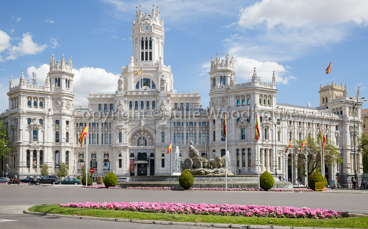 photo showing Cybele Palace / Palacio De Cibeles On Plaza De Cibeles, Madrid, Spain