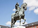 Plaza Mayor, Bronze Statue Of King Philip III, 1616 By Jean Boulogne and Pietro Tacca, Madrid, Spain