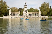 Thumbnail image of Buen Retiro Park with Boating Lake and Monument to Alfonso XII, Madrid, Spain