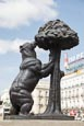 Thumbnail image of statue Bear and the Madrono Tree the symbol of Madrid in Sol Square, Puerta del Sol, Madrid, Spain
