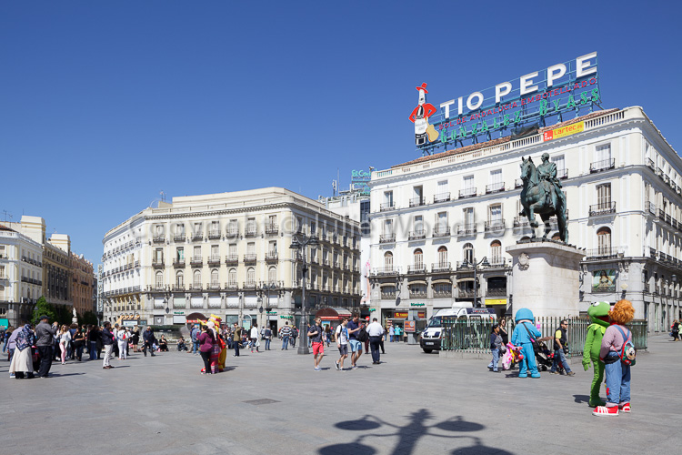 photo showing Sol Square, Puerta Del Sol, Madrid, Spain