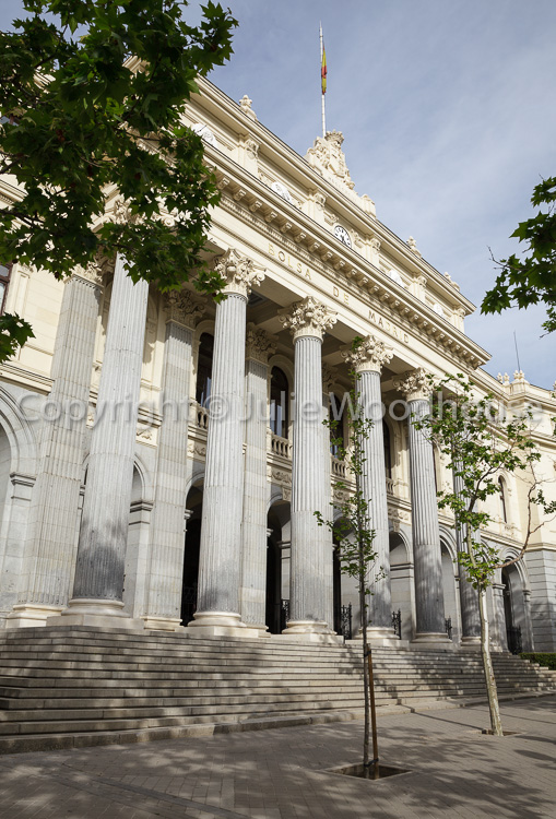photo showing Bolsa De Madrid, The Madrid Stock Exchange, Madrid, Spain