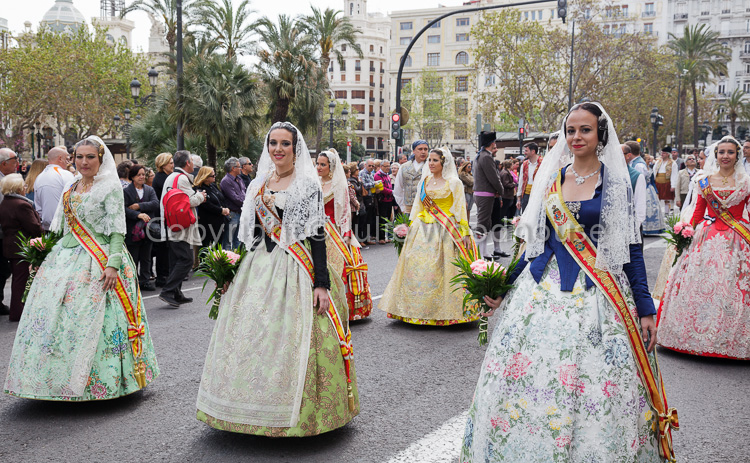photo showing Women In Traditional Dress During Procession At The Festival Of San Vicente Ferrer, The Patron Saint