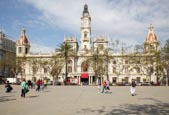 Thumbnail image of Plaza del Ayuntaminento with the City Hall, Valencia, Spain