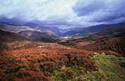 Thumbnail image of view towards Llyn Dinas, from Grib Ddu, Wales