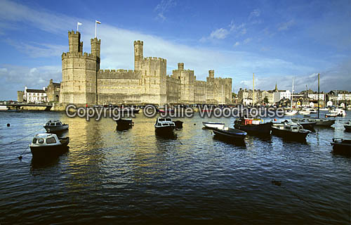 photo showing Caernarfon Castle, Wales