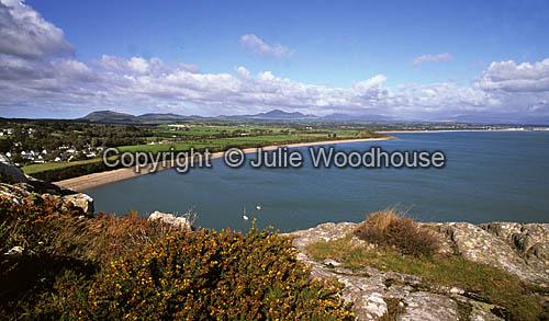photo showing View From Tir-y-Cwmwd Towards Llanbedrog  And Pwllheli, Lleyn Peninsula, Wales